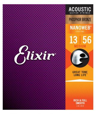 Elixir Akustik Phosphor Nanoweb Medium