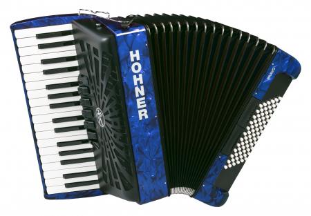 Hohner Bravo III 72 silent key blau