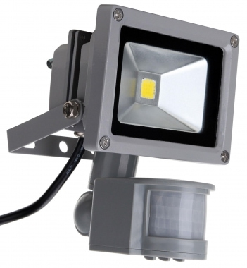 Showlite FL-2010B LED focos IP65 10W 1100 Lumen con detector de movimiento