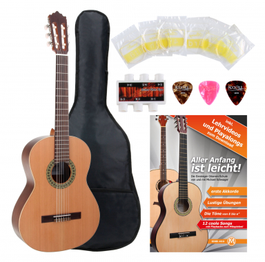 Antonio Calida GC201S 7/8 Classical Guitar Starter Set incl. 5-piece accessory set