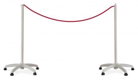 Stagecaptain PLSG-BASIC poteaux de balisage pour système de guidage de personnes, paire, gris