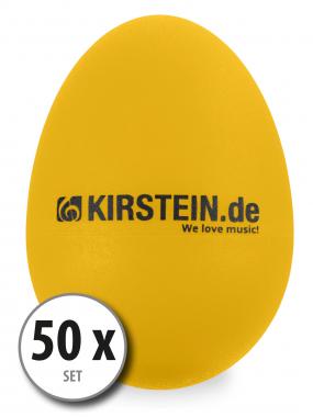 50x Kirstein ES-10Y Egg Shaker gelb Heavy Set