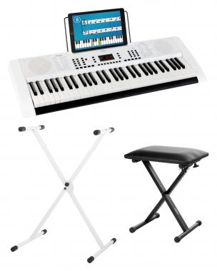 FunKey 61 Edition White SET incl. keyboard stand and bench