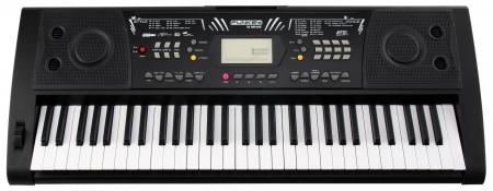 FunKey 61 Deluxe Keyboard inkl. Netzteil und Notenhalter Schwarz  - Retoure (Zustand: sehr gut)