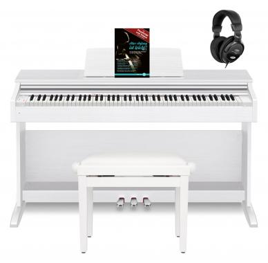 Casio Celviano AP-270 WE Digitalpiano weiß Set inkl. Bank, Kopfhörer & Schule