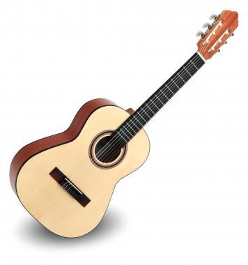 Calida Cadete Konzertgitarre 1/2 Fichte Hochglanz - Made in Portugal  - Retoure (Zustand: sehr gut)