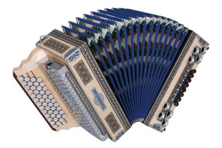 Kärntnerland Waldheimat blau Harmonika 4/III B-Es-As-Des