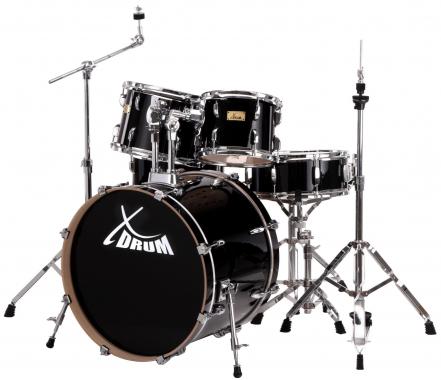 XDrum Stage II Studio Schlagzeug Set Raven Black  - Retoure (Zustand: sehr gut)