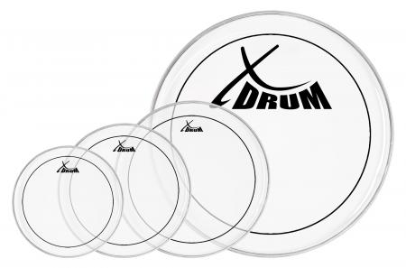 "XDrum Oil Hydraulic Drum Head Set 10"" 12"" 14"" 22"""
