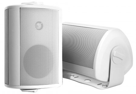 A Pair of Pronomic OLS-10 WH White Outdoor Loudspeakers, Two at 100 Watts
