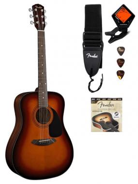 Fender CD-60 (Sunburst Sonokeling) + originele Fender toebehoren