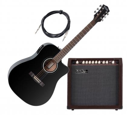 Gitarre AMP Verstärker Knöpfe Schwarz mit Gold Cap Knob für Akustikgitarre WRDE