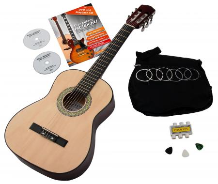 Classic Cantabile Acoustic Series AS-851 1/2 Konzertgitarre Starterset  - Retoure (Zustand: sehr gut)