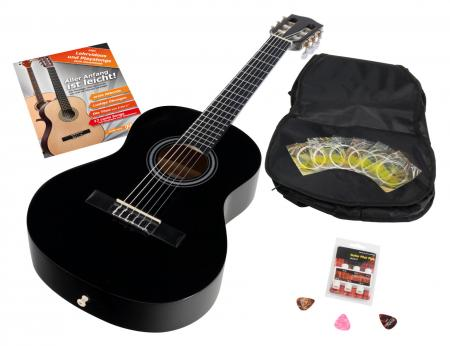 Calida Benita Concert Guitar Set 1/2 black with accessories