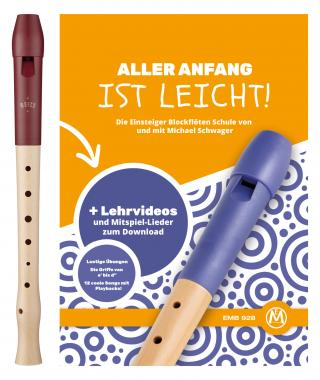 """Moeck Flauto 1 Plus 1020 Sopran deutsch+ Schule mit """"Aller Anfang ist leicht"""""""