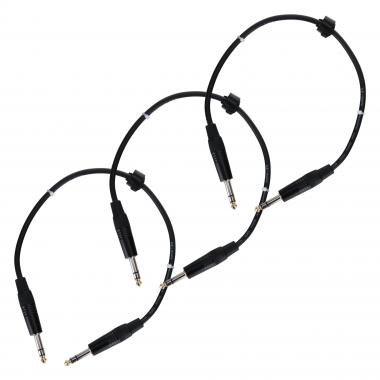 Pronomic Stage INSTS 0.5-jack cable 0.5m Stereo 3 Piece Set