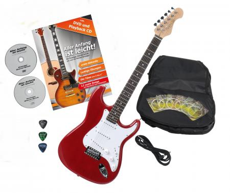 Rocktile Sphere Classic electric guitar red with accessories