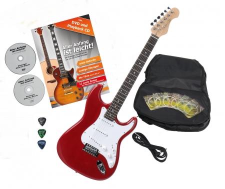 Rocktile Sphere Classic Guitare électrique Red avec accessoires