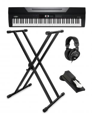 Classic Cantabile SP-150 BK Stage Piano black SET incl. stand, headphones and pedal