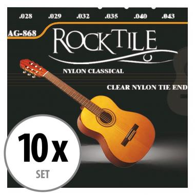 Rocktile Cordes de Guitare de Concert Super Light Paquet de 10