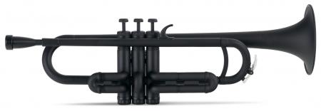 Classic Cantabile MardiBrass plastic trompette en Sib noir mat