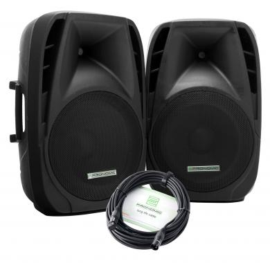 Pronomic PH15A active speakers MP3/Bluetooth 200/350 watt pair
