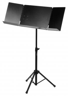 Classic Cantabile Orchesterpult Pro, aufklappbar, Schwarz  - Retoure (Zustand: akzeptabel)