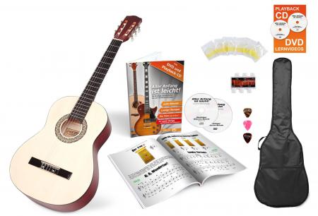 Calida Lucia 7/8-Size Acoustic Guitar Starter Set, Natural, With Accessories
