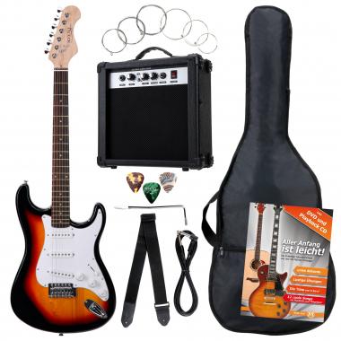 Rocktile Banger's Pack E-Gitarren Set, 8-teilig Sunburst  - Retoure (Zustand: sehr gut)
