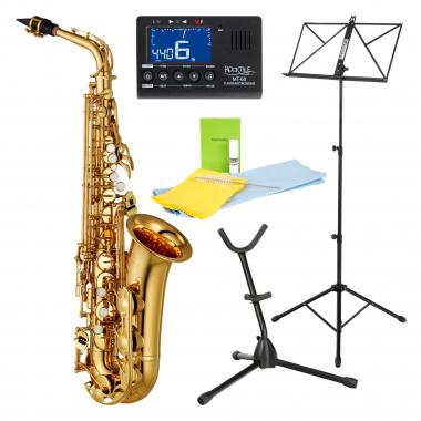 Yamaha YAS-280 Altsaxophon Set inkl. Metronom, Saxständer, Notenständer und Reinigungsset