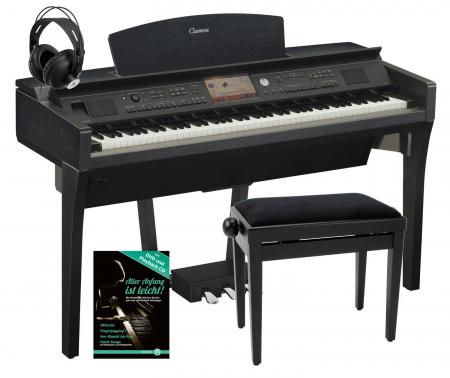 Yamaha CVP-709 B Clavinova Digitalpiano Schwerz SET inkl. Bank + Kopfhörer + Klavierschule