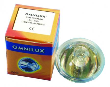Omnilux EFR 15V 150W GZ-6,35 50h mit Reflektor