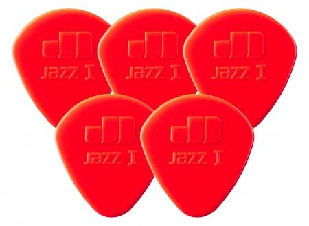 5er Set Dunlop Nylon Jazz I Plektrum 1,10 rot