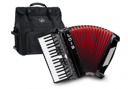 Loib Starter III 72 BK Beginners Accordion Black