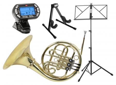 Classic Cantabile WH-702 Bb Horn left keys SET w/ case, mouthpiece, horn & music stand, metronome