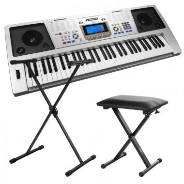FunKey 61 PLUS Keyboardset, inclusief keyboardstandaard en bankje