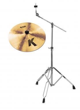 "Zildjian K 16"" Dark Crash Thin + Galgenbeckenständer SET"
