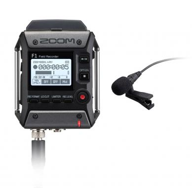 Zoom F1 Field Recorder mit Lavaliermikrofon