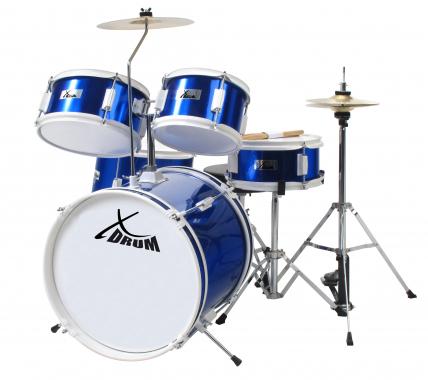XDrum Junior Standard Kinderschlagzeug Blau inkl. Schule + DVD  - Retoure (Zustand: sehr gut)