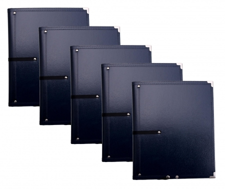 Classic Cantabile B16BL Music Folders Deluxe Blue 5-Piece Set