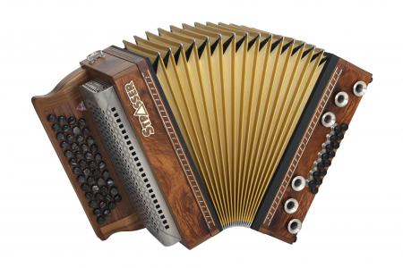 Strasser 4/III Hoamat Harmonika G-C-F-B mit X-Bass, Myrthe Maser