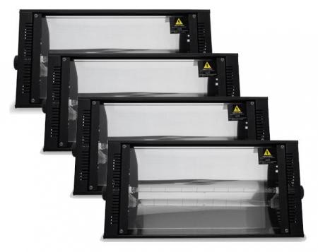 4 x Showlite LS-1500DMX 1500W Dimmer Stroboskop Set