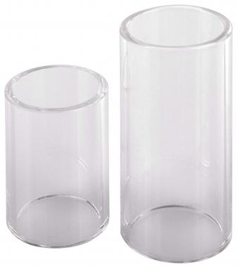 Rocktile glass slide (bottleneck) pair consisting of 4cm and 6cm length