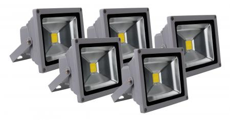 Showlite FL-2020 LED focos IP65 20W 2200 Lumen set  5 x