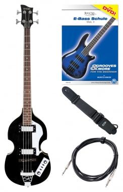 """Rocktile VB-2 """"Black Magic"""" Vintage Beatbass E-Bass Set Schwarz"""