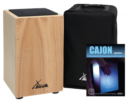 XDrum Cajon Primero nature housse comprise