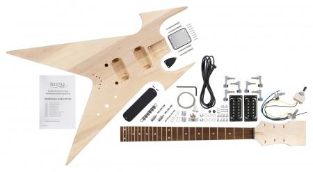 Rocktile Kit d'assemblaggio per Chitarra elettrica ZW-Style