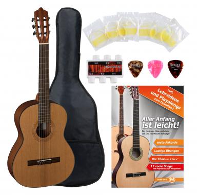 La Mancha Rubinito cm/59 3/4 Konzertgitarre Starterset