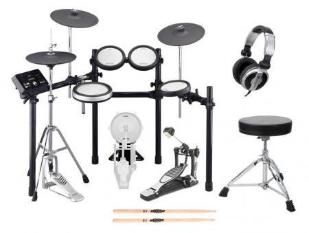 Yamaha DTX582K Compact E-Drum Kit SET 1 + Hocker, Sticks, Kopfhörer
