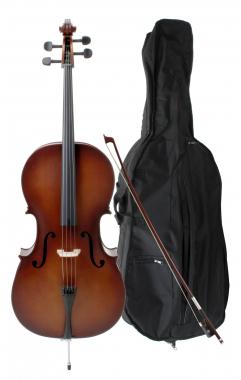 Classic Cantabile Student Cello 3/4 SET inkl. Bogen + Tasche + Kolofon  - Retoure (Zustand: gut)